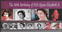 Bermuda SG MS977 2006 80th Birthday of Queen Elizabeth II Miniature Sheet unmounted mint